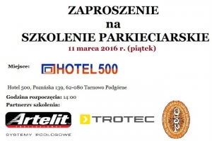 Szkolenie parkieciarskie w Tarnowie Podgórnym