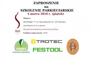 Szkolenie parkieciarskie we Wrocławiu
